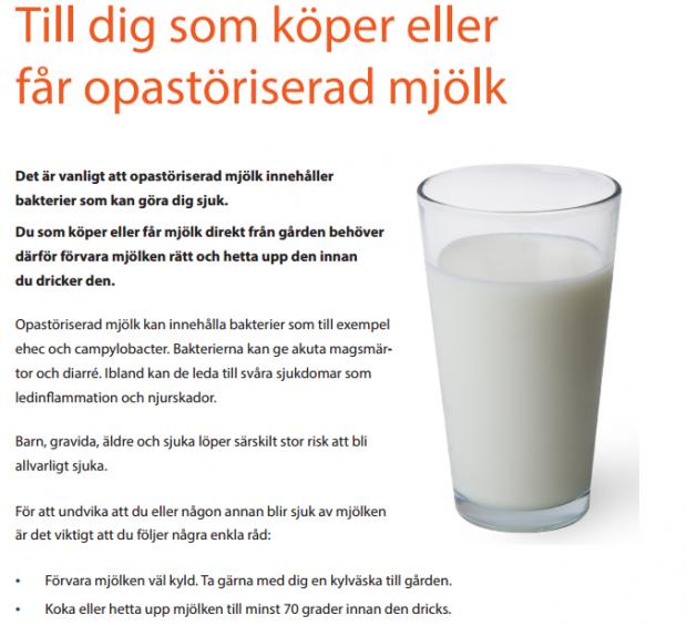 gravid opastöriserad mjölk